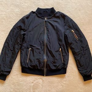 Mackage Leather Trimmed Bomber